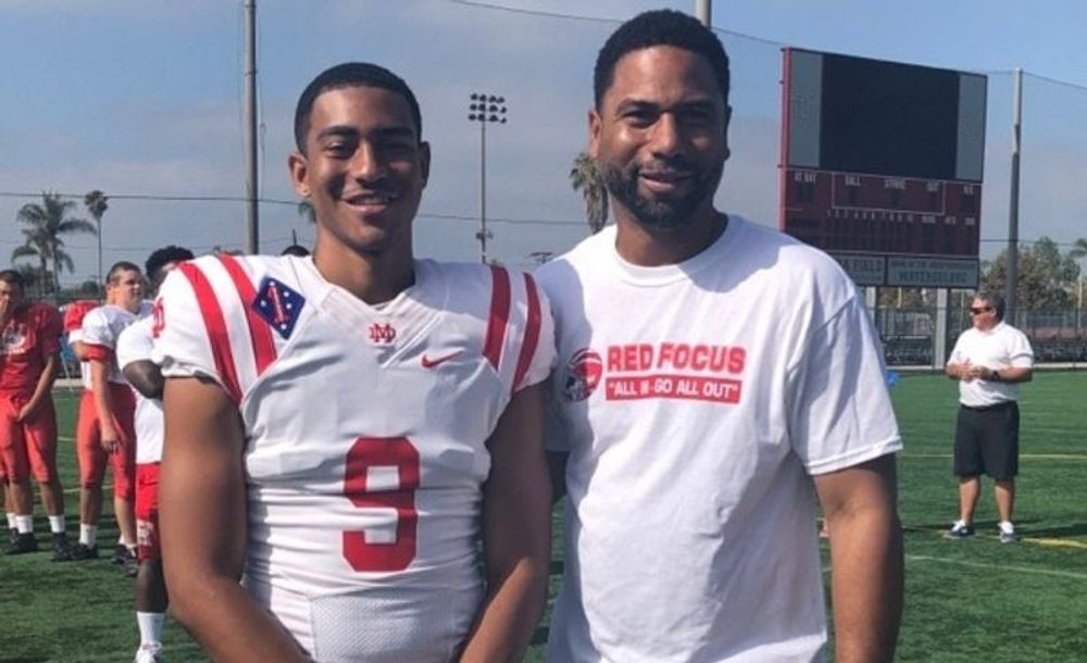 Bryce Young and his father